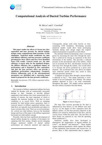 Computational Analysis of Ducted Turbine Performance