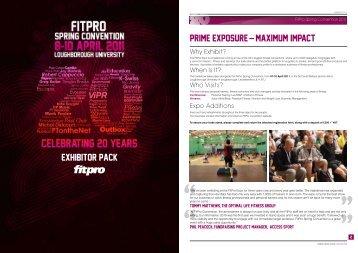 exhibitor pack PRIME EXPOSURE – MAXIMUM IMPACT! - Fitness ...