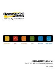 2010 Q3 Financial Statements - Commercial Solutions Inc