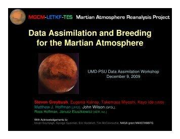 MARS EnKF/breeding - Weather-Chaos Group