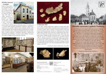 Městské muzeum a galerie Vodňany - Informační centrum Vodňany