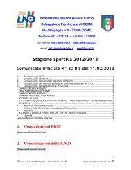 COMUNICATO n.30 BIS del 11/02/2013 - FIGC