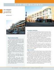 City of Kelowna, CPA Member Profile, by Stuart Evans - Canadian ...