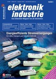 PDF-Ausgabe herunterladen (38.7 MB) - elektronik industrie