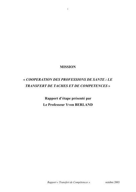 Rapport d'étape dans son intégralit - Timone.univ-mrs.fr