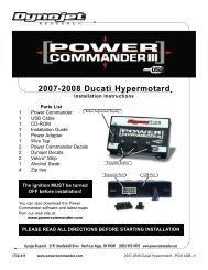 2007-2008 Ducati Hypermotard - Power Commander