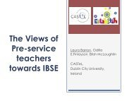 The Views of Pre-service teachers towards IBSE