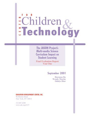 CCT Cover 10/17 (color) - Center for Children & Technology ...