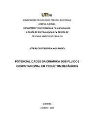 Potencialidades da Dinâmica dos Fluidos ... - PPGEM - UTFPR