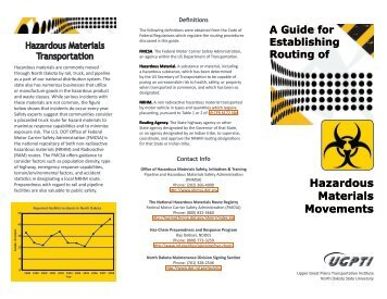 HazMat Routing Brochure