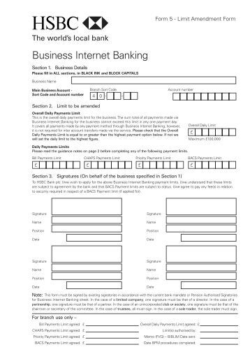 Business Internet Banking - Business banking - HSBC