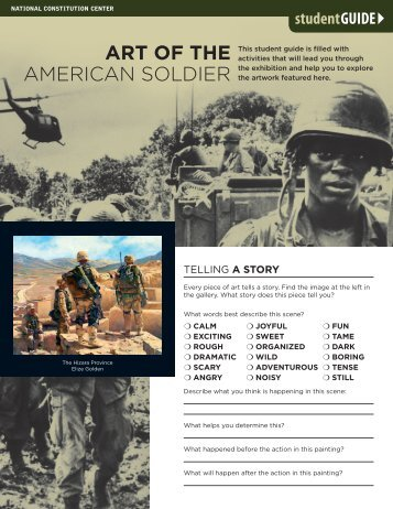 Art of the American Soldier Student Guide - National Constitution ...