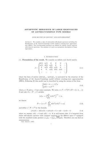 ASYMPTOTIC BEHAVIOUR OF LARGE EIGENVALUES OF ... - L.m.p.a