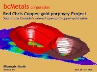 red chris project - Minerals North