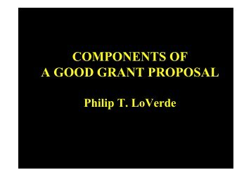 components of a good grant proposal - South-South Initiative for ...