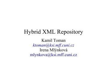 Hybrid XML Repository - KSI