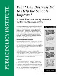 What can Businesses Do to Help the Schools Improve?