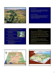 Watershed Management Concerns Importance