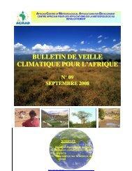 bulletin de veille climatique pour l'afrique n° 09 septembre 2008