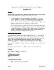 Approval Process for New Graduate and Professional Programs ...