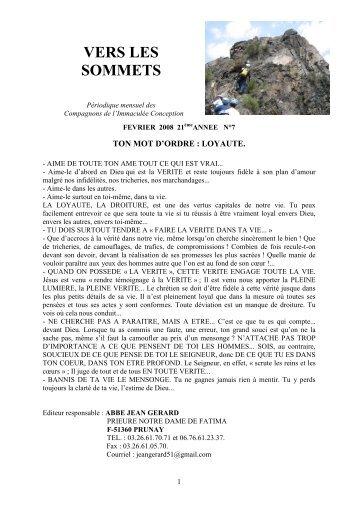 FEVRIER 2008 - La Porte Latine