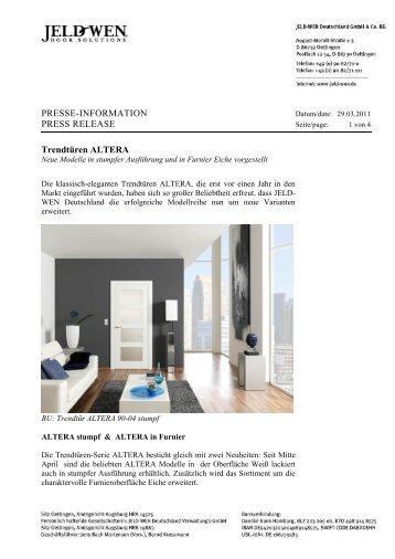 PRESSE-INFORMATION PRESS RELEASE Trendtüren ... - Jeld-Wen