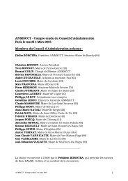 ANMSCCT - Compte-rendu du Conseil d'Administration Paris le ...