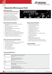 MN-Compact-Plus Datasheet - Riedel