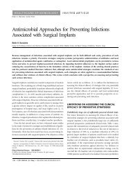 Antimicrobial Approaches for Preventing Infections Associated with ...