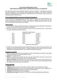 CURSO PARA ENTRENADORES DE NIVEL 1 ... - ITF