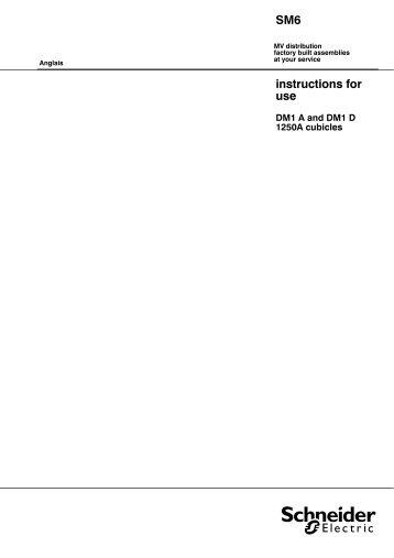 SM6 DM 1 A d user manual - Schneider Electric
