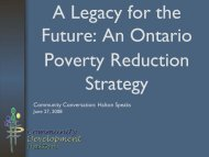 An Ontario Poverty Reduction Strategy - Community Development ...