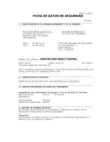 FICHA DE DATOS DE SEGURIDAD - Dow AgroSciences