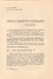 A REVISION OF some SPECIES OF THE GENERA MELA - Batista