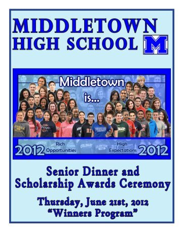 Scholarships and Awards - Middletown City School District
