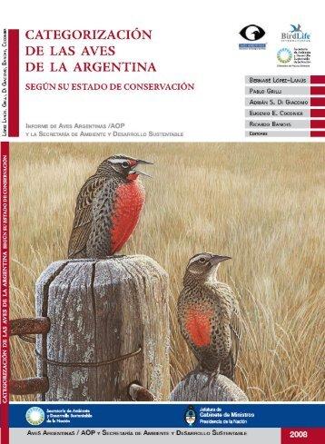 informe de Aves Argentinas - Áreas de Gestión