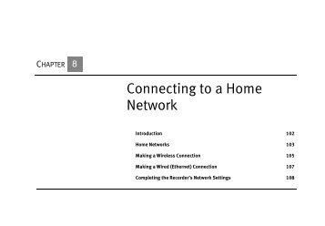 Connecting to a Home Network - TiVo