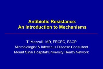 Antibiotics: Mechanisms of Action & Resistance - Infectious Diseases