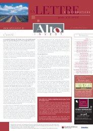 l'edito fonds ALTO INVEST - Haussmann Patrimoine