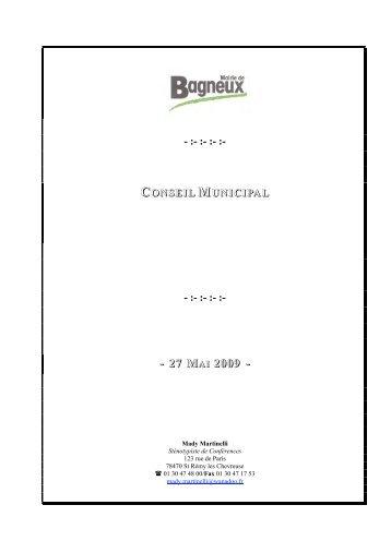 Compte-rendu complet du 27/05/09 - Bagneux