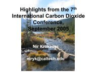 Highlights from the 7th International Carbon Dioxide ... - Caltech