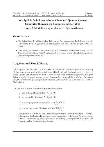 Versuch 9 - Friedrich-Schiller-Universität Jena