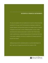 Securities & Financial Instruments Brochure - Analysis Group