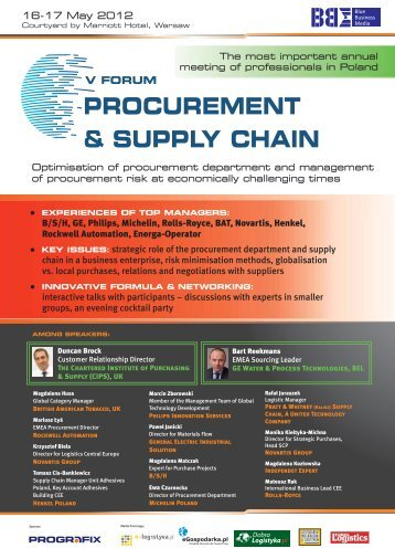 PROCUREMENT & SUPPLY CHAIN - Blue Business Media
