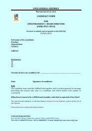CIFEJ GENERAL ASSEMBLY CANDIDACY FORM FOR (CIFEJ ...