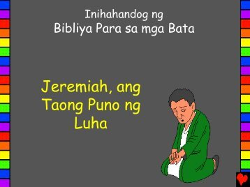 Jeremiah Man of Tears Tagalog PDA - Bible for Children
