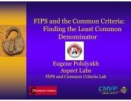 FIPS and the Common Criteria - TSE | www.tse.org.tr