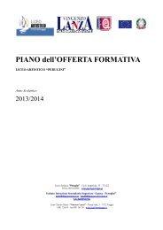 PIANO OFFERTA FORMATIVA in sintesi - Liceo Artistico