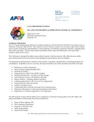 CALL FOR PRESENTATIONS 2011 APPA ENGINEERING ...