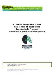 Vers la mise en place d'une Zone Agricole Protégée - Chambres d ...